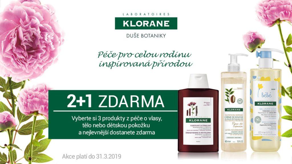 KLORANE 2+1 ZDARMA